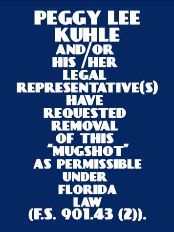 PEGGY LEE KUHLE Mugshot / County Arrests / Orange County Arrests